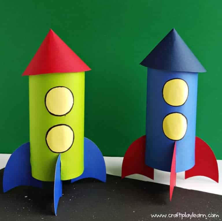 kids homemade rocket craft