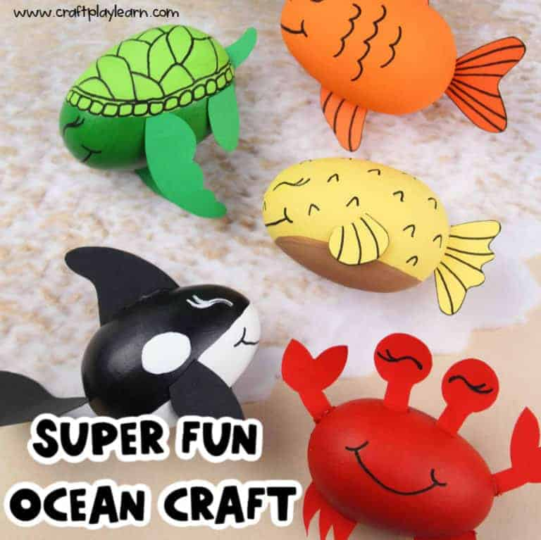 supplies for ocean crafts for kids
