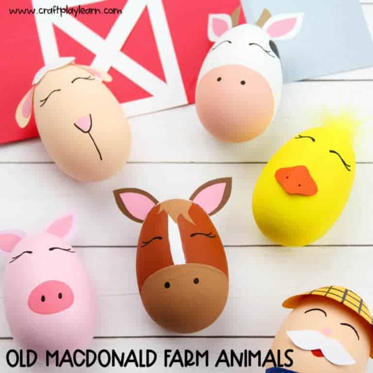 old Macdonald farm animal crafts