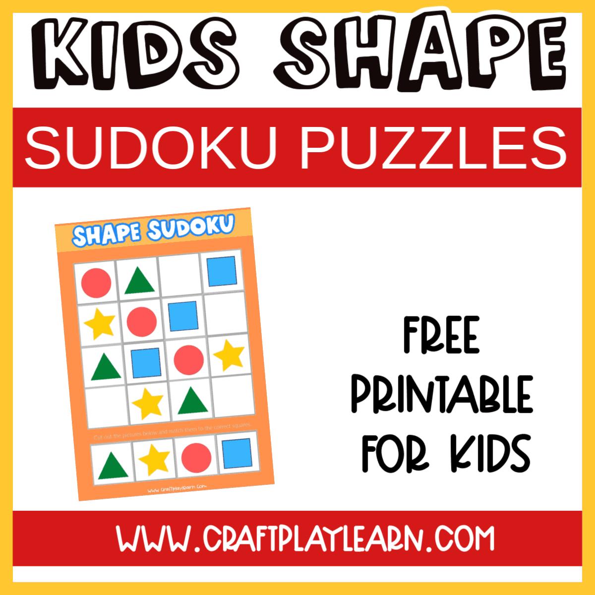 kids shape sudoku