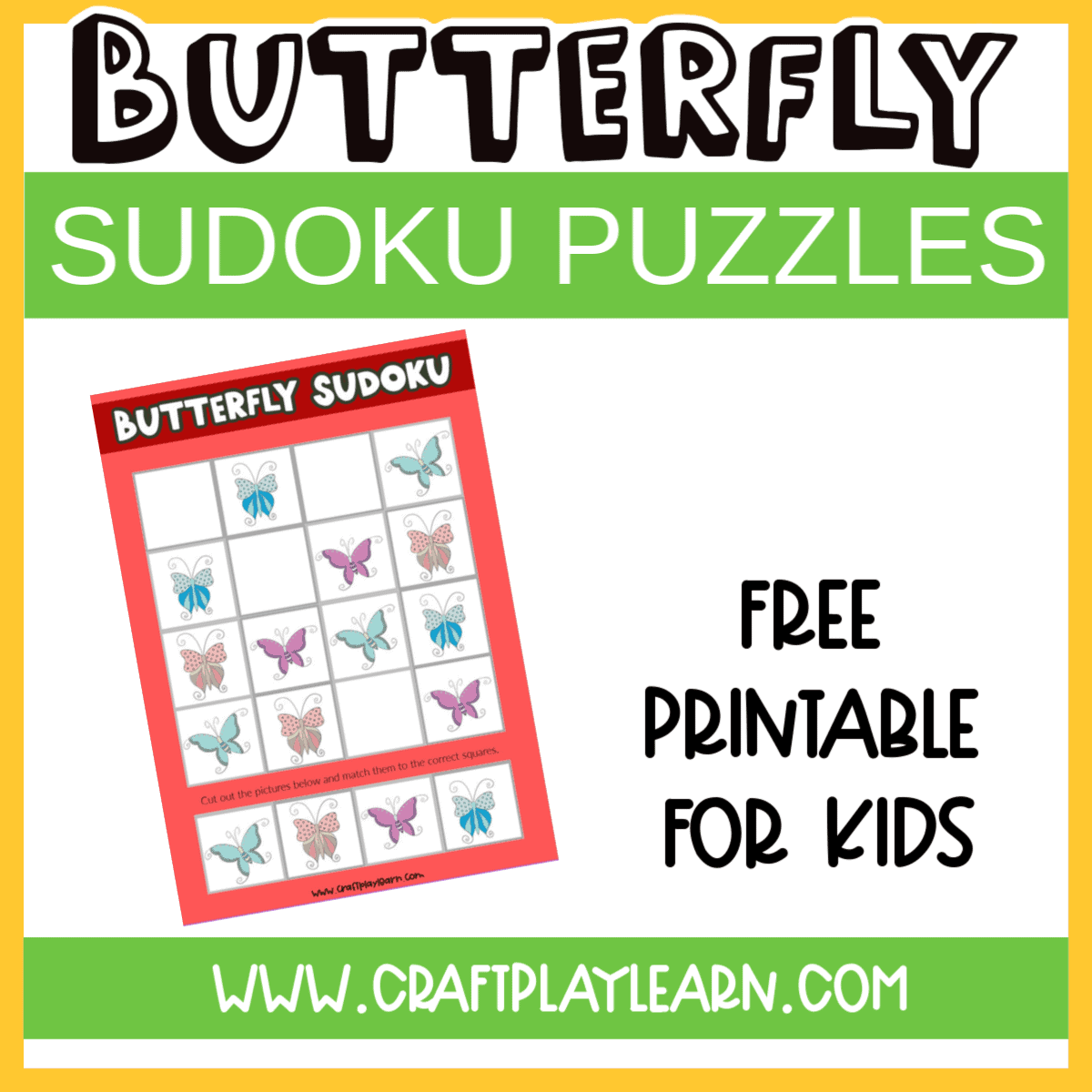 It is a picture of Printable Sudokus for Kids with free printable baby