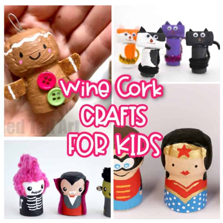 wine cork Crafts For Kids