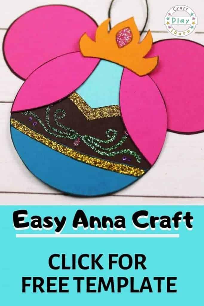 frozen anna craft template
