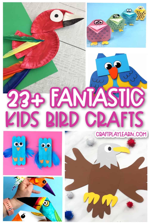 Fantastic bird crafts for kids