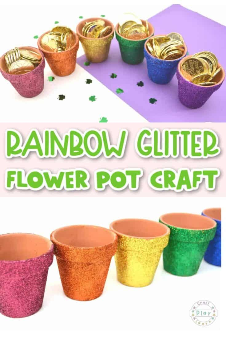 rainbow flower pot craft