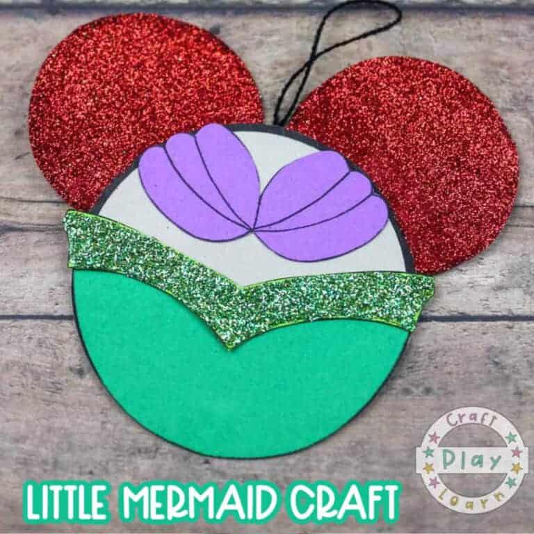 mermaid paper craft