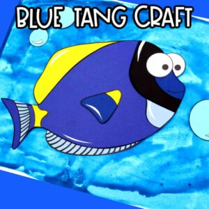 blue tang fish craft