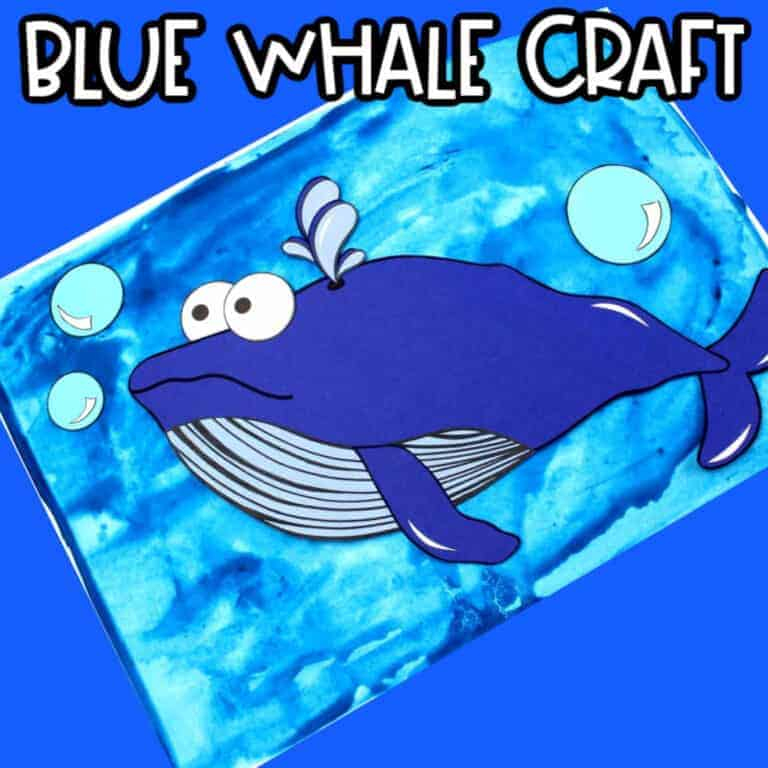Blue Whale Craft For kids