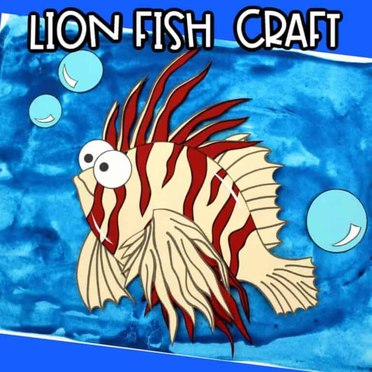 lion fish kids craft idea