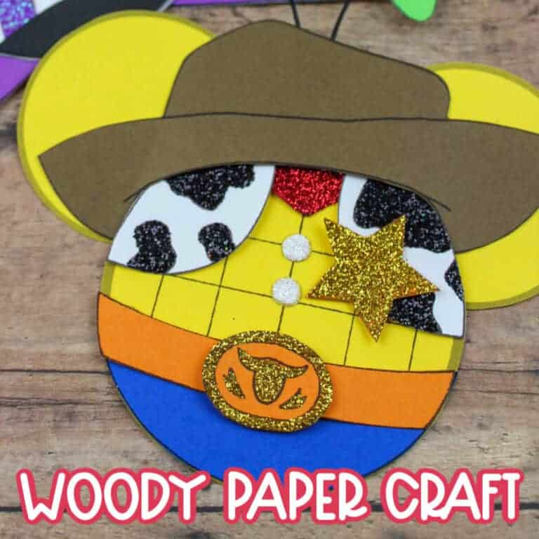 woody toy story craft