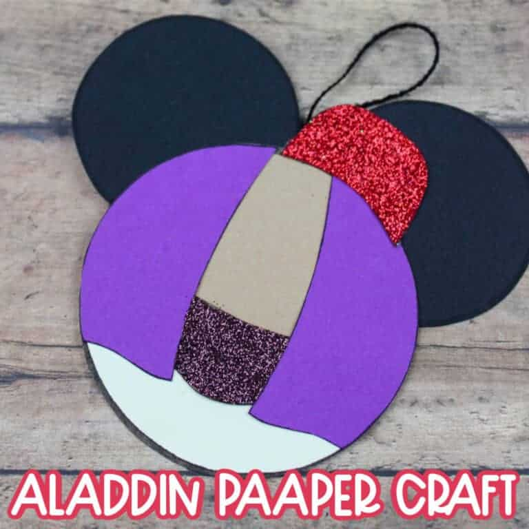 aladdin paper craft with template