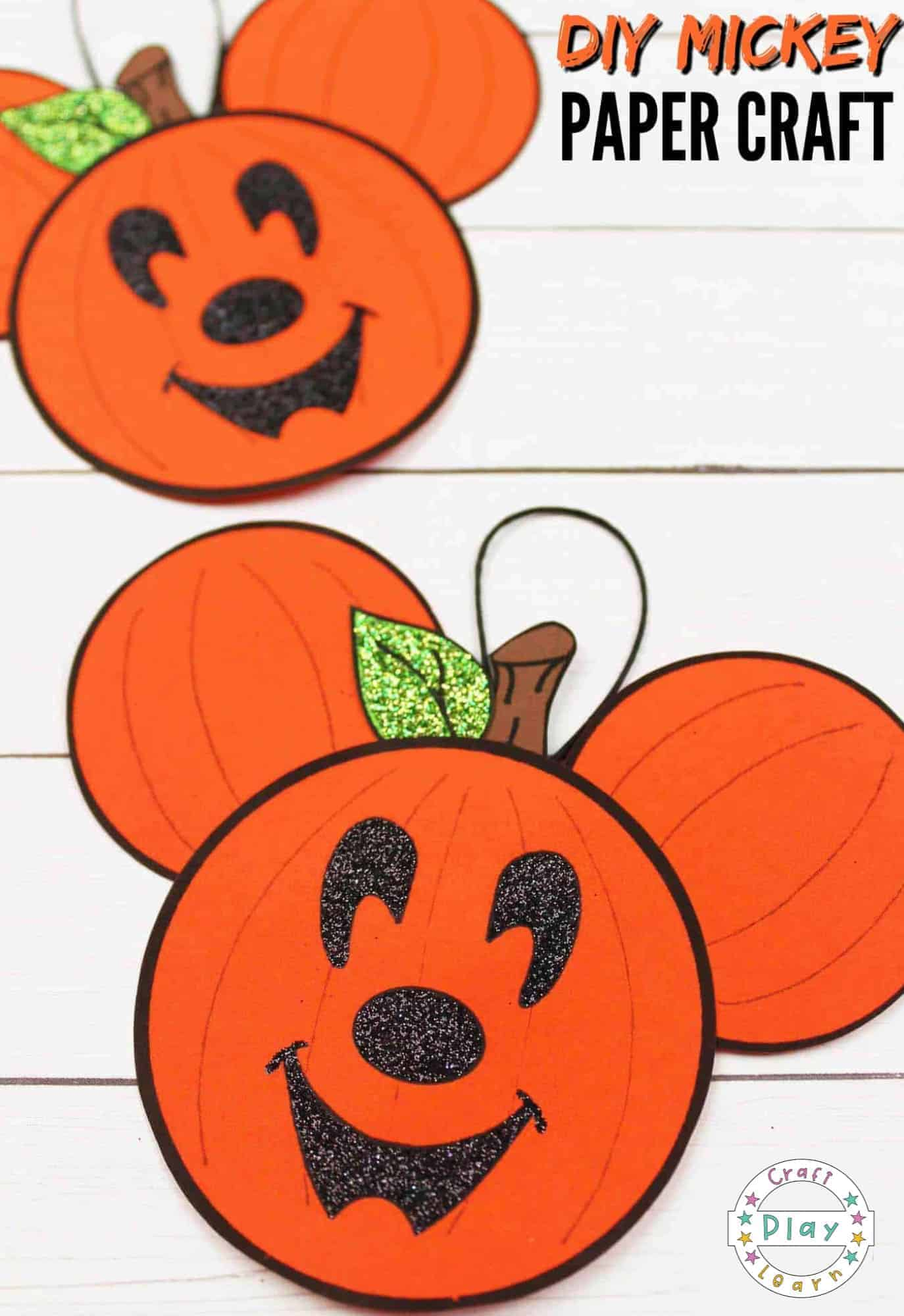 mickey pumpkin ears craft