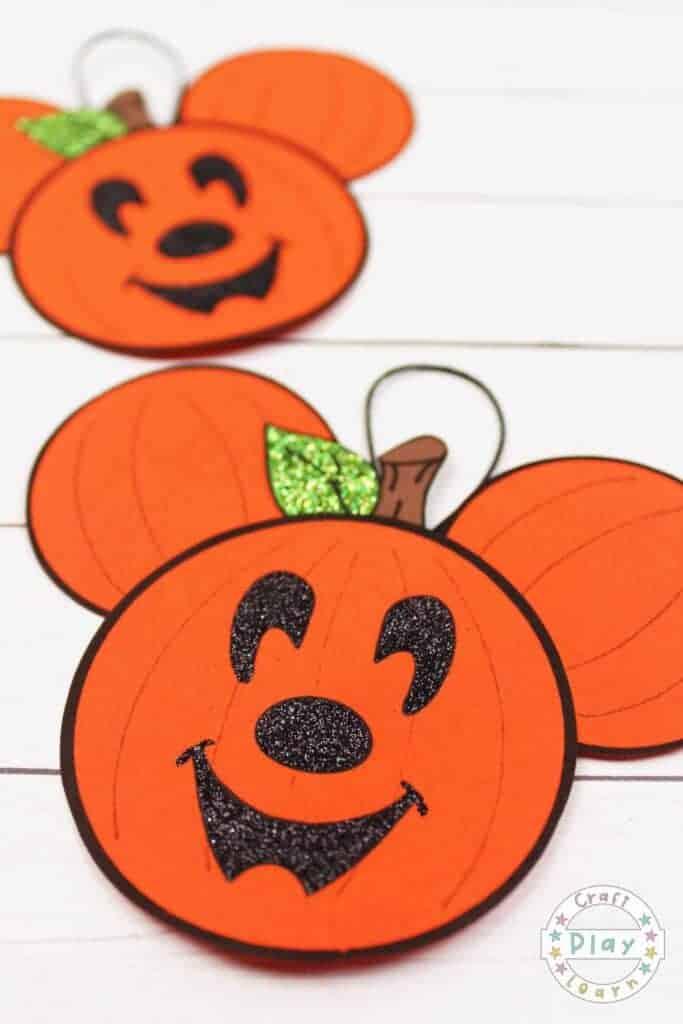 Mickey Head Pumpkin Ornament Craft