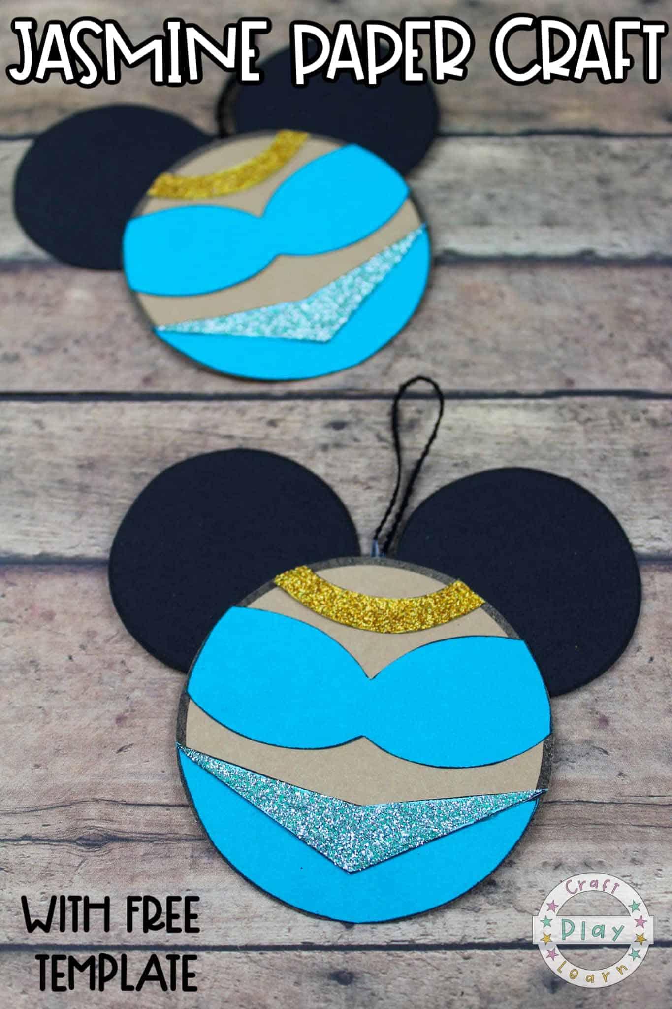princess jasmine paper craft