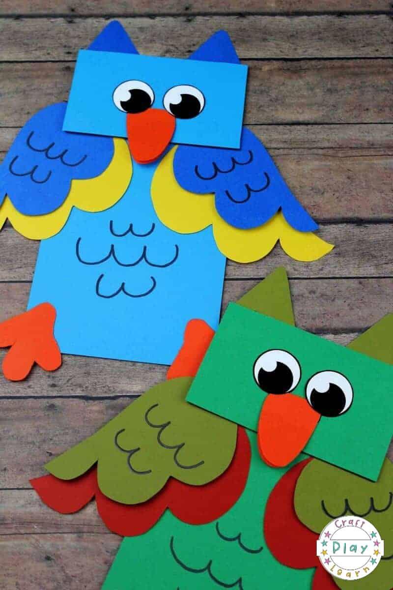 paper bag owl craft