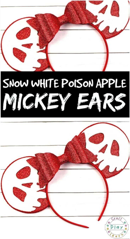making poison apple snow white mickey ears