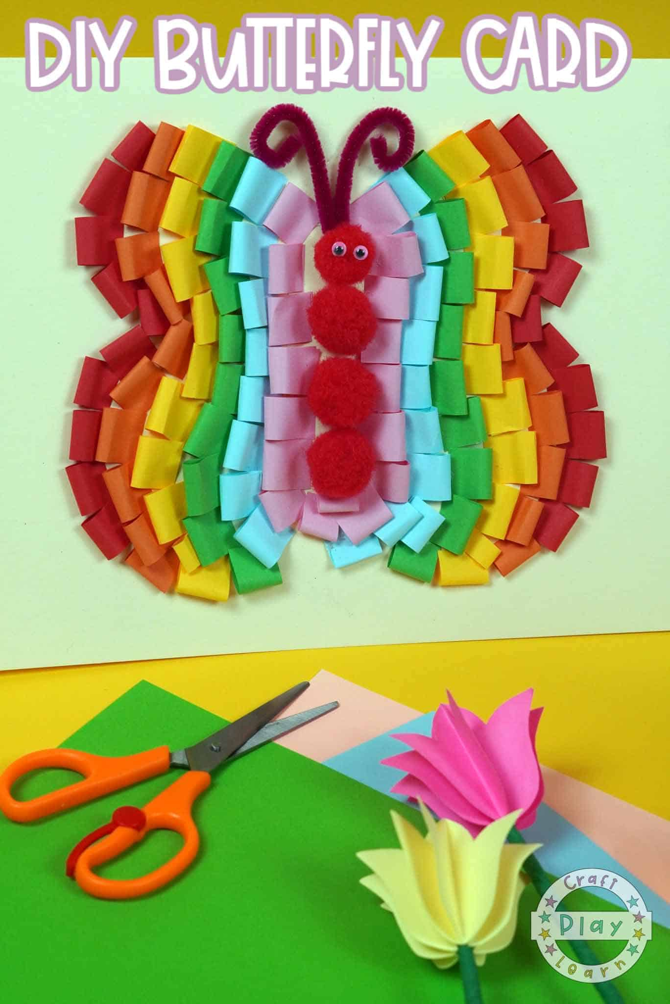 colorful paper butterfly