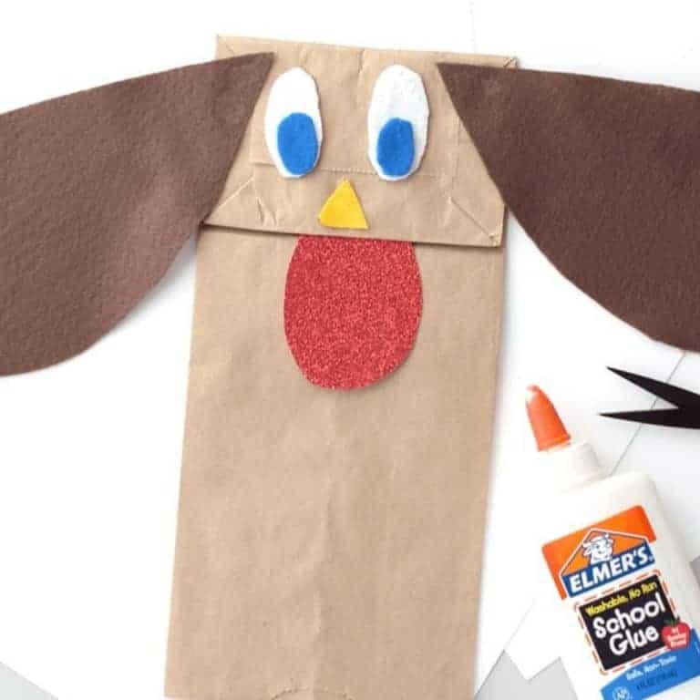Paper Bag Dog Puppet Craft