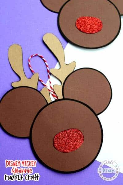 mickey mouse rudolf craft
