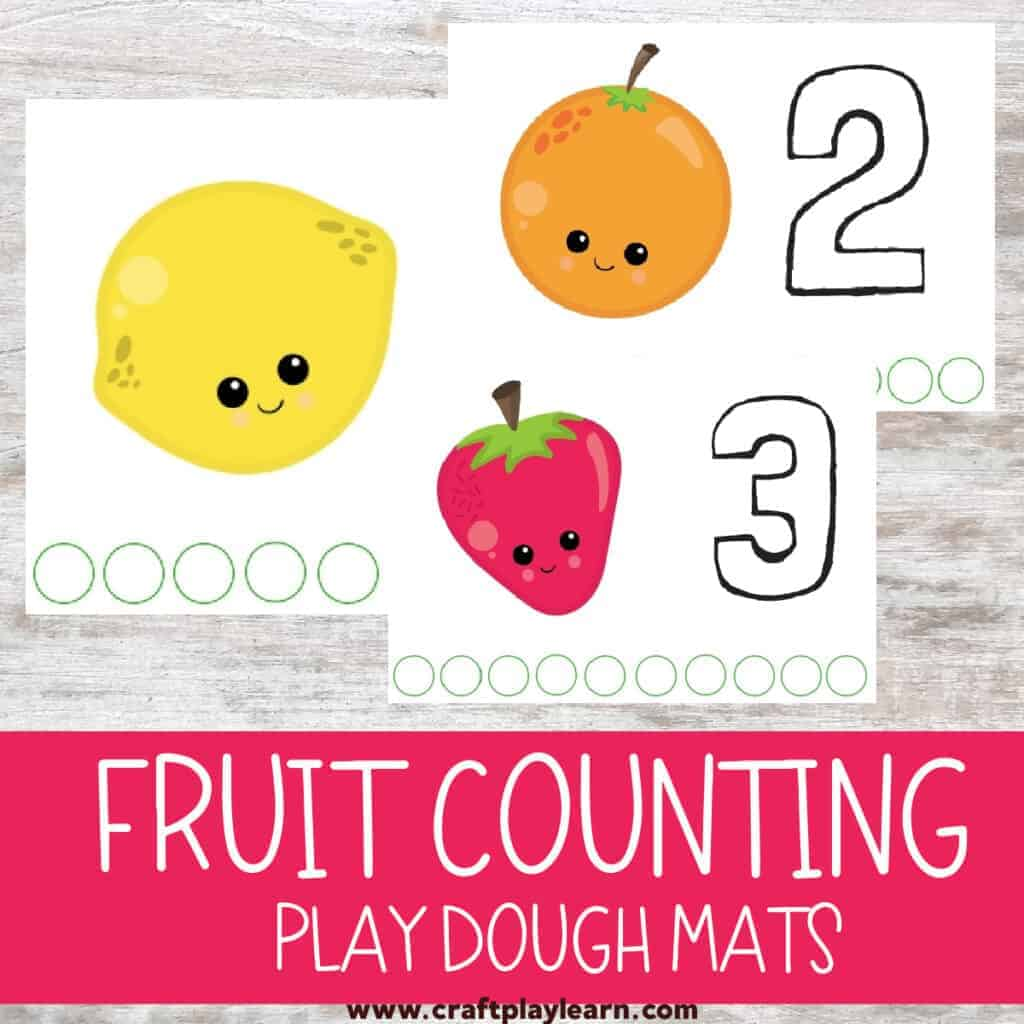 Fruit themed counting cards