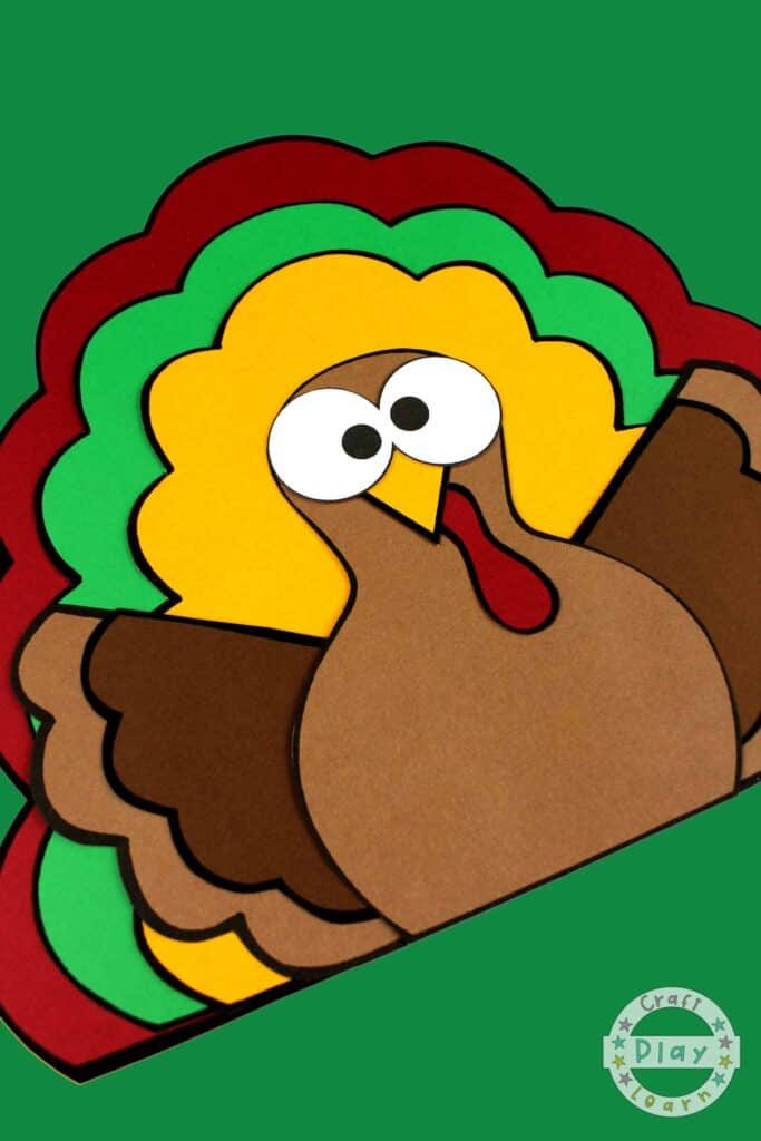 kids thanksgiving turkey craft idea