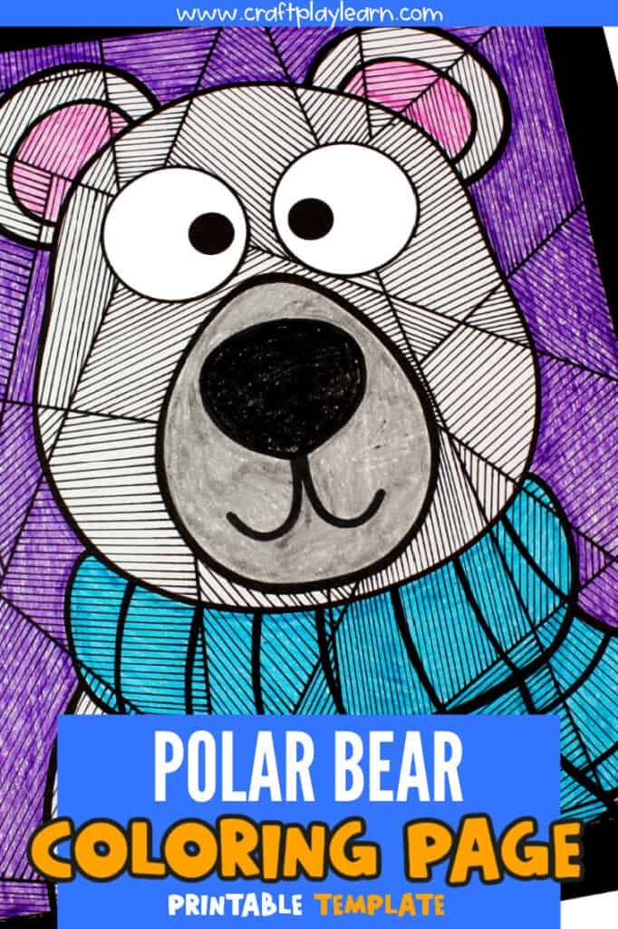 POLAR BEAR COLORING PAGE ONE